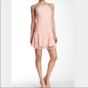NWT BCBGMaxazria Basantie Soutache Halter Dress
